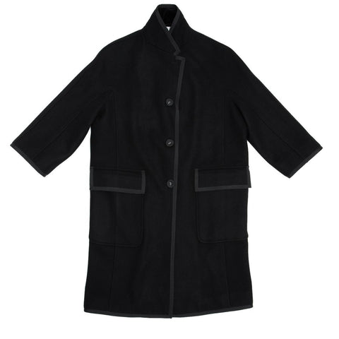 Thom Browne Black Wool & Cashmere Coat, size 2