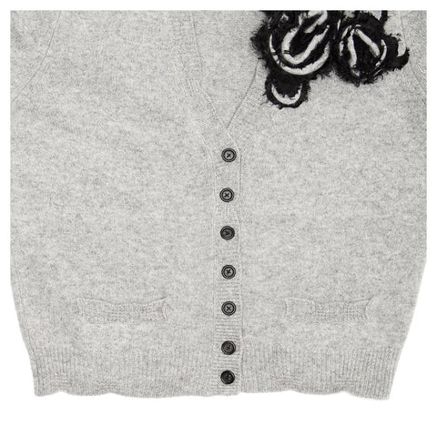 Marc Jacobs Grey V-neck Cardigan