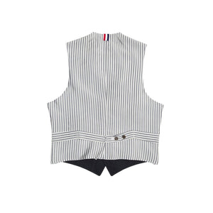 Find an authentic preowned Thom Browne Navy Blue Mackintosh Vest size 1 at BunnyJack, where a portion of every sale goes to charity.