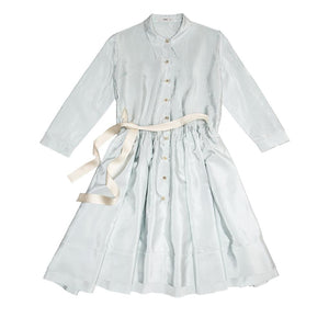 Find an authentic preowned Prada Sky Blue Silk Shirt Dress size 46 (Italian) at BunnyJack, where up to 50% of each sale price is donated to charity.
