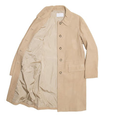 Find an authentic preowned Prada Tan Soft Leather Coat size 42 (Italian) at BunnyJack, where up to 50% of each sale price is donated to charity.