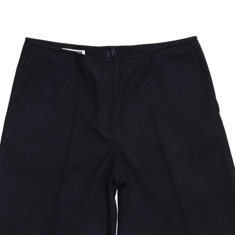 Find an authentic preowned Jil Sander Black Wool Wide Cropped Trousers, size 44 (French) at BunnyJack, where a portion of every sale goes to charity.