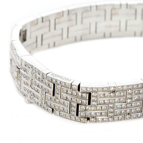 Find an authentic preowned Hermès Platinum & Diamond Bracelet, size S at BunnyJack, where a portion of every sale goes to charity.