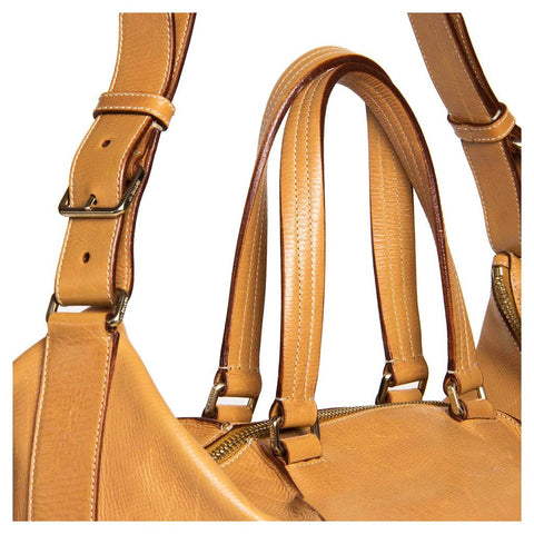 Buy a pre-owned Jil Sanders tan leather bag on BunnyJack.