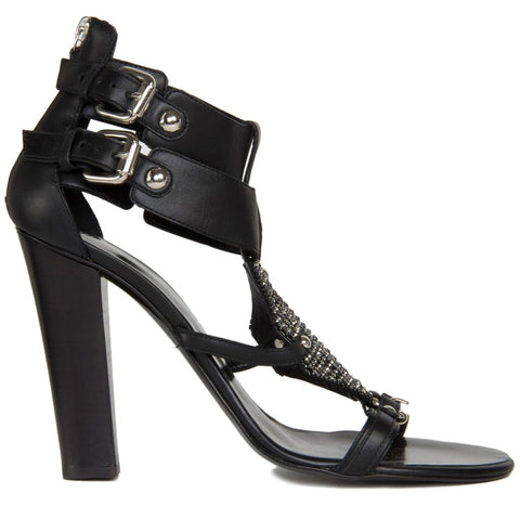 Find authentic preowned Balmain Black & Rhinestoned Sandals size 41.5 (Italian) at BunnyJack, where a portion of every sale goes to charity.