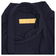 Find an authentic preowned Lanvin Blue Cashmere Knit Bolero, size XL at BunnyJack, where a portion of every sale goes to charity.