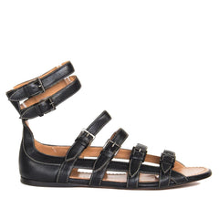 Find authentic preowned Azzedine Alaia black leather gladiator sandals size 40 (Italian) at BunnyJack, where a portion of every sale goes to charity.