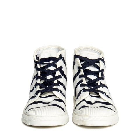 Black & White Hight Top Sneaker