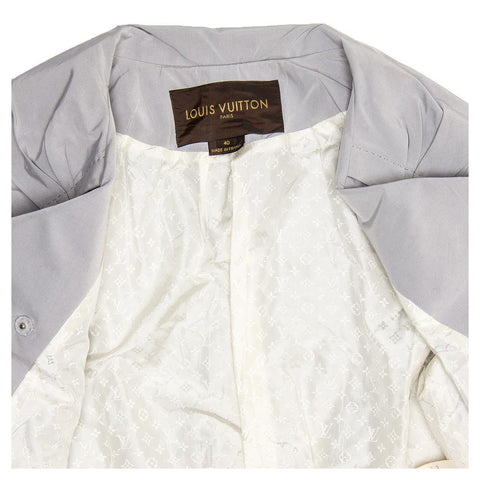 Louis Vuitton Grey Double Breasted Cropped Jacket, Size 40 (French)