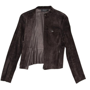 Gucci Brown Suede Cropped Jacket, size 44 (Italian)