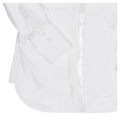 White Cotton & Leather Shirt