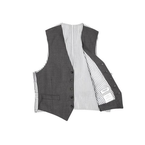 Find an authentic preowned Thom Browne Heather Grey Wool Vest size 1 at BunnyJack, where a portion of every sale goes to charity.