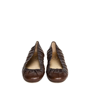 Find authentic preowned Prada Brown Leather Ballet Shoes size 40 (Italian) at BunnyJack, where up to 50% of each sale price is donated to charity.