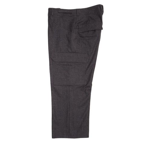 Find authentic preowned Jil Sander Grey Wool Cargo Style Pants, size 44 (French) at BunnyJack, where a portion of every sale goes to charity.