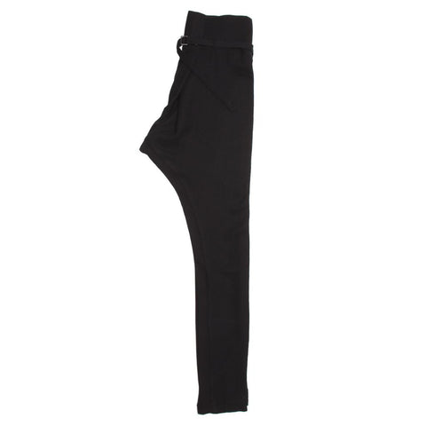 Find an authentic preowned Ann Demeulemeester Black Wool Belted Pants, size 38 (French) at BunnyJack.
