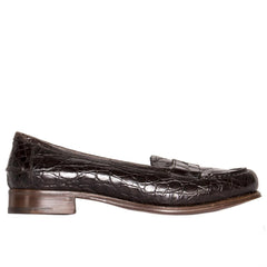 Find an authentic preowned Prada Brown Crocodile Penny Loafers at BunnyJack, where up to 50% of each sale price is donated to charity.