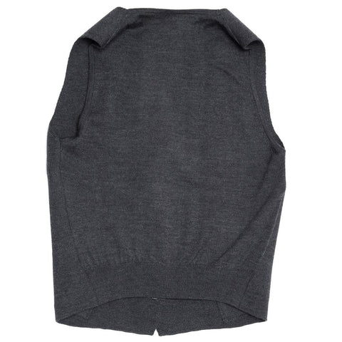 Find an authentic preowned Hermès Grey Wool Knit Vest, size 40 (French) at BunnyJack, where a portion of every sale goes to charity.