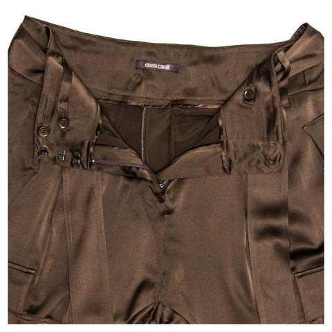 Chocolate Brown Silk Gaucho Pants
