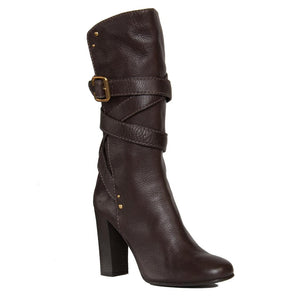 Chloe Chocolate Brown Boots, Size 41 (Italian)
