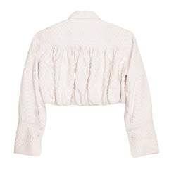 Find an authentic preowned Azzedine Alaia Ivory Python Cropped Jacket size 40 (French) at BunnyJack, where a portion of every sale goes to charity.