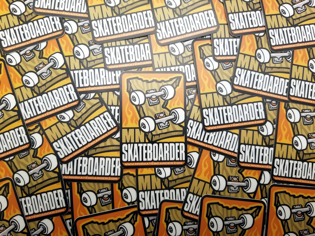 MNSkateboarder.com Stickers all piled up