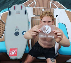 Noah with his new Naturall Living sticker