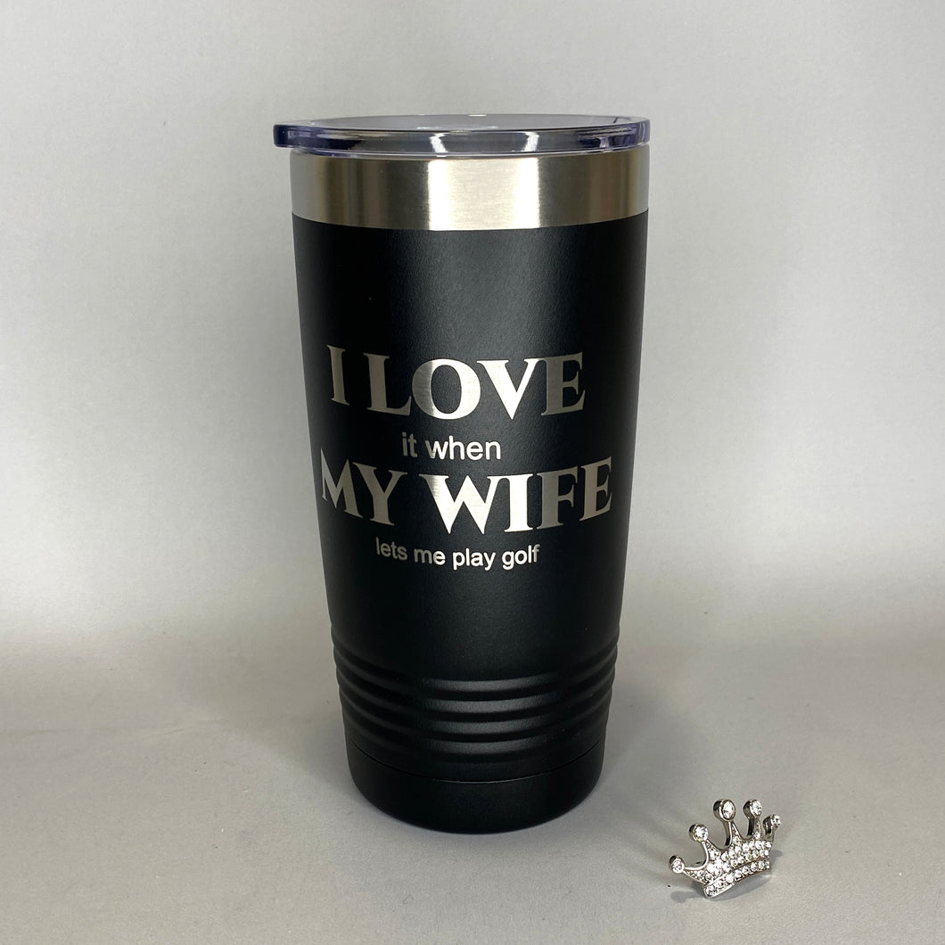 20oz Laser Engraved Insulated Tumbler