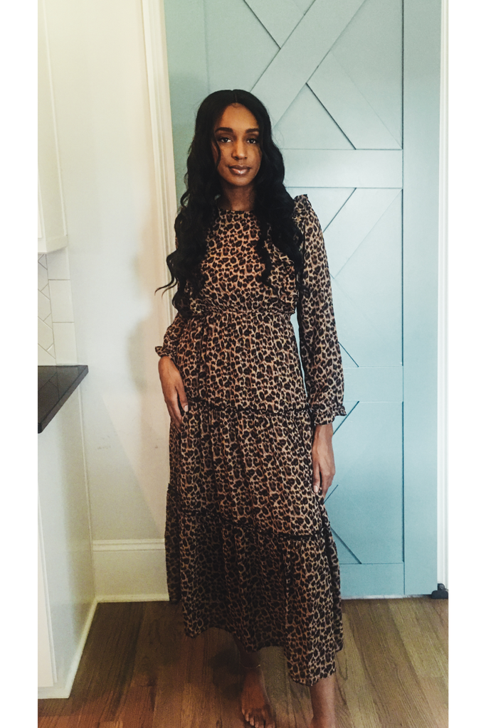 Fimi leopard dress
