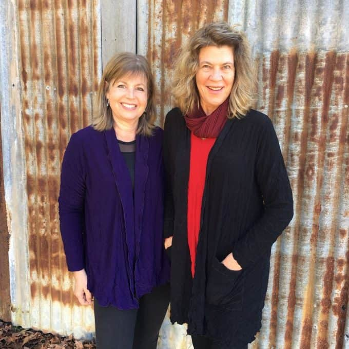 Kathleen Berney With Lynne In Cardigans