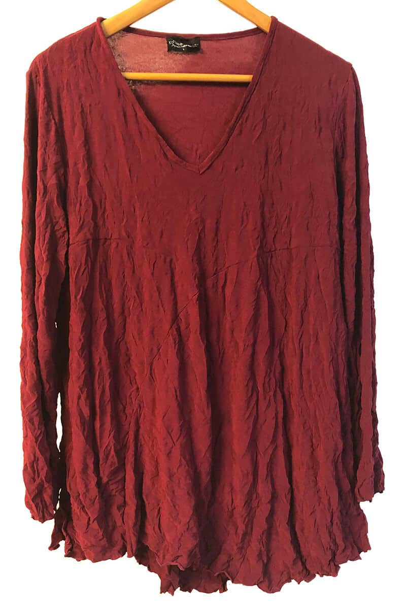 Ruby Red Curve Tunic Made To Order