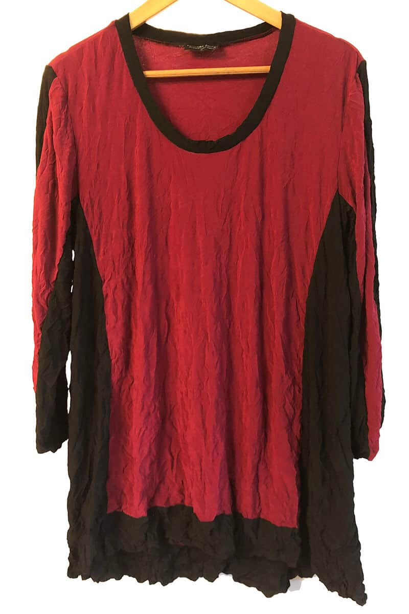 Black And Red Made To Order Top
