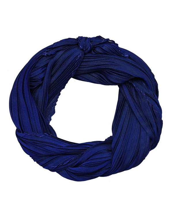 Pleated Tapered End Scarf