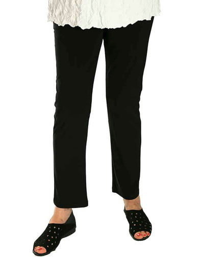 Narrow Leg Smooth Pant - Black