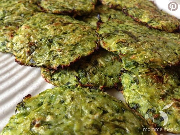 Ginger Basil Baked Zucchini Fritters