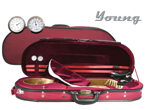 Deluxe D-Shaped Violin Case by Young