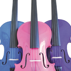 Rainbow Fantasia Coloured Violin Outfit
