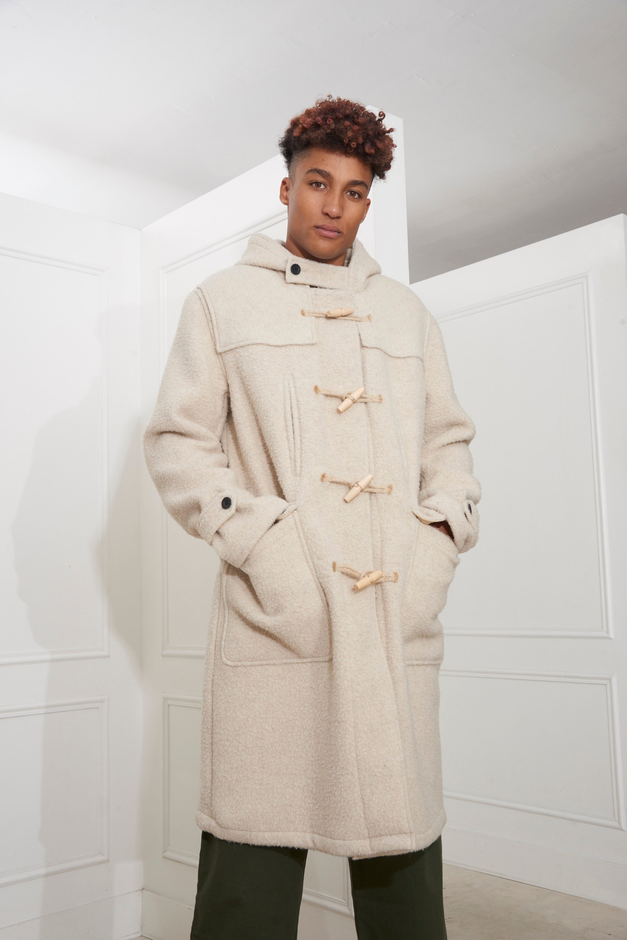 Our Legacy Extended Duffle Coat Nicotine Peeled Wool