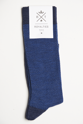 Royalties Twist Socks Cobalt