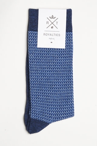 Royalties George Socks Tweed Indigo