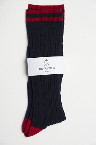 Royalties Torsades Socks Navy