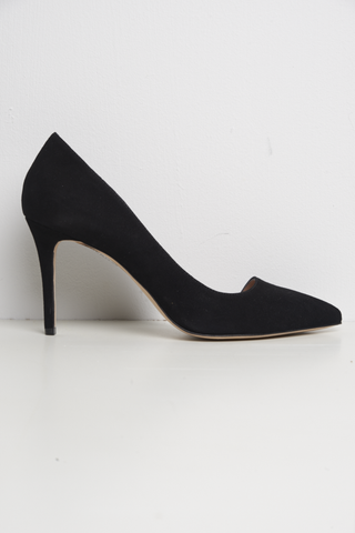 L'Enfant Pumps Black Suede