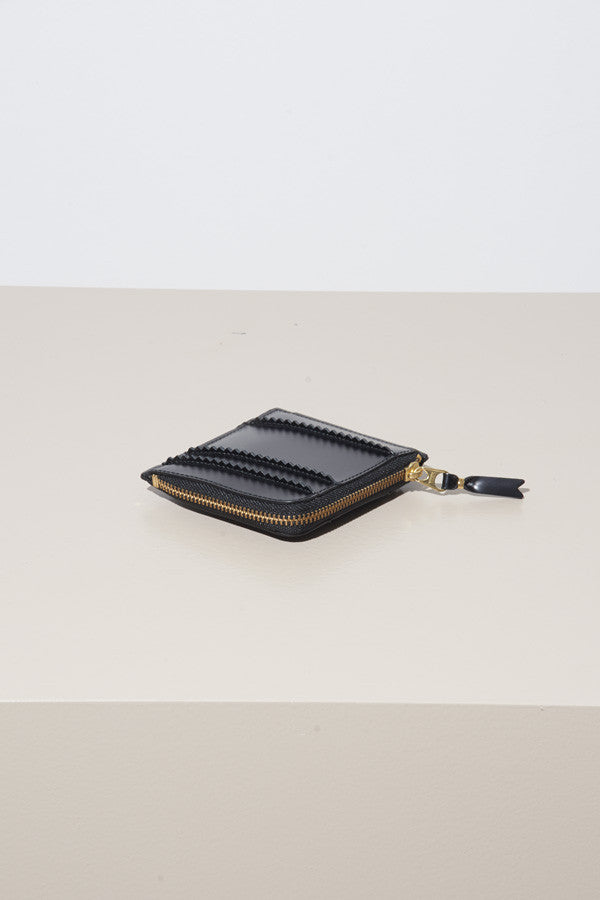 Comme des Garcons Raised Spike Wallet Black
