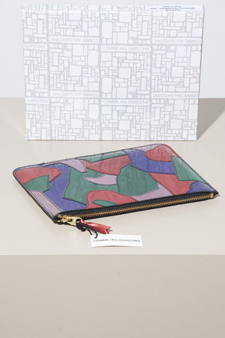Comme des Garcons Metallic Patchwork-Red Clutch