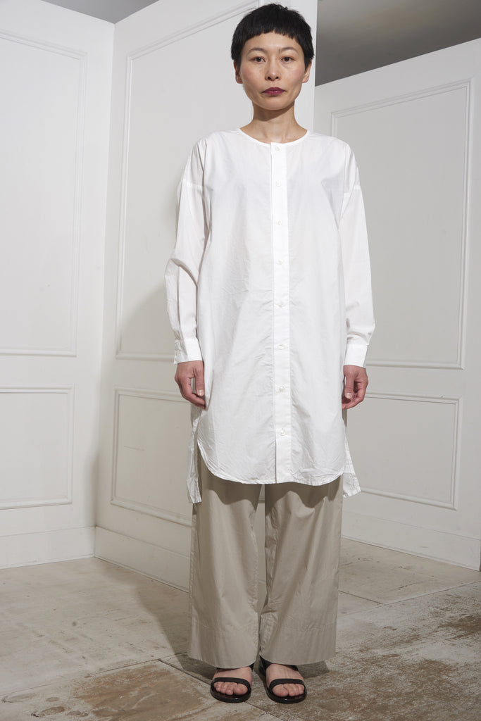 Ichi Antiquités Typewriter Tunic Shirt White