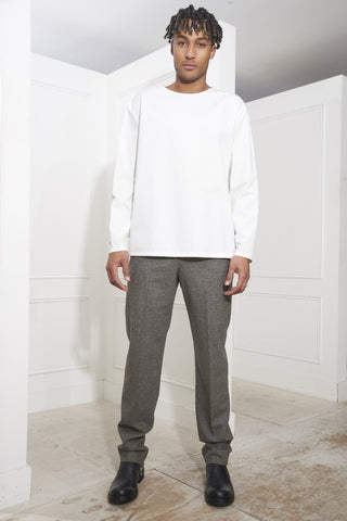 Lemaire Long Sleeve Tee Shirt White
