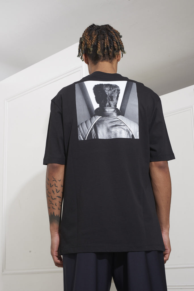 Raf Simons American Fit Tshirt Self Portrait Black