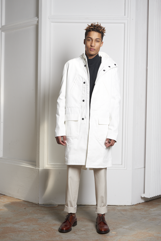 Raf Simons Parka Isolated Heroes White