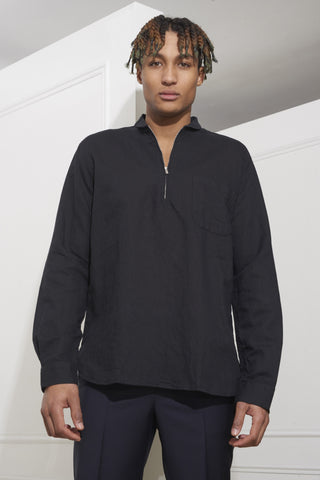 Our Legacy Shawl Zip Shirt Black