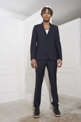 Raf Simons Slim-Fit Deconstructed Blazer Dark Navy