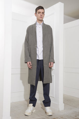 Monique van Heist Overcoat Darkgrey Canvas
